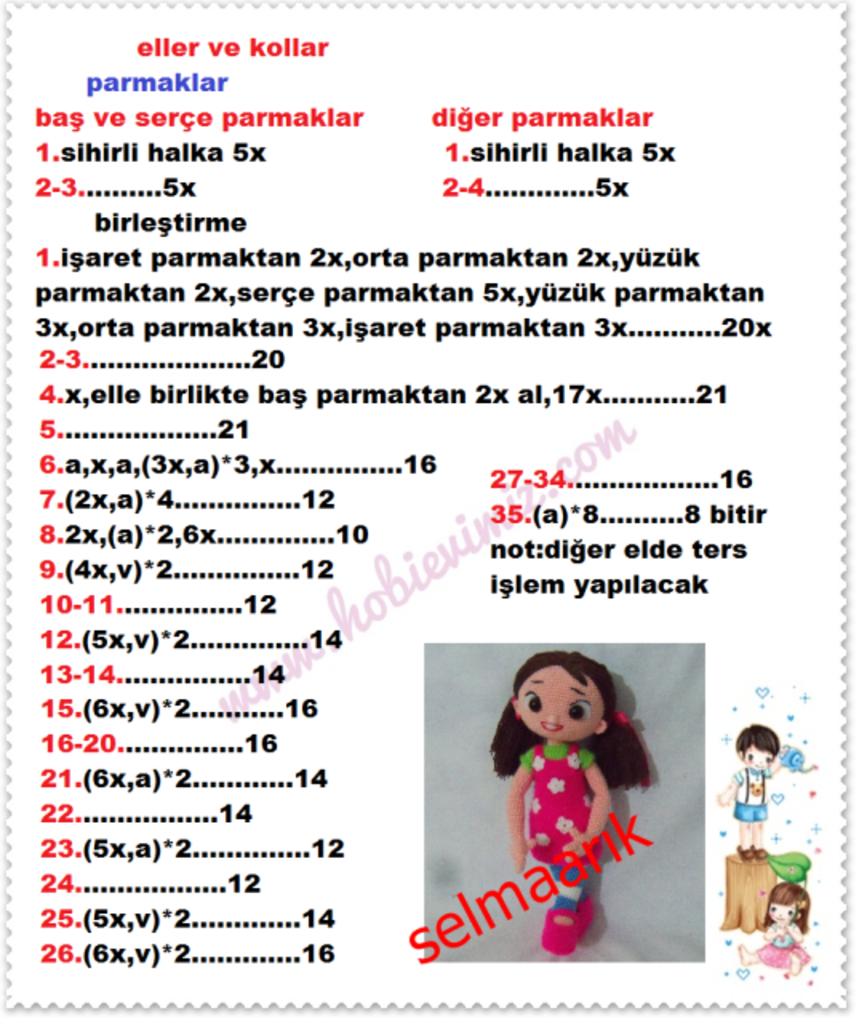 Amigurumi Türkiye-Niloya Tarifi | 1024x859