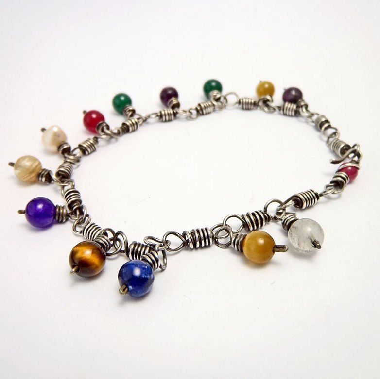 Silver rainbow bracelet  Beautiful gift for yourself or for the #love one