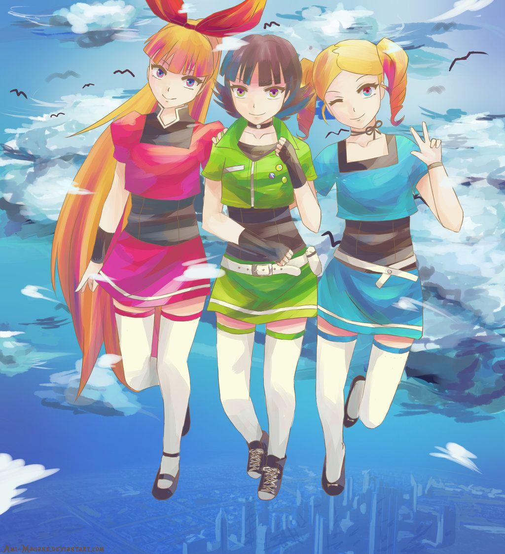 Fusionfall Powerpuff Girls By Ami Magane Deviantart Com On