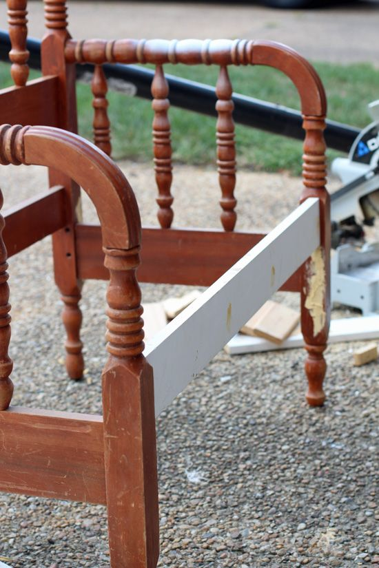 How To Turn A Spindle Headboard Into A Bench Benches