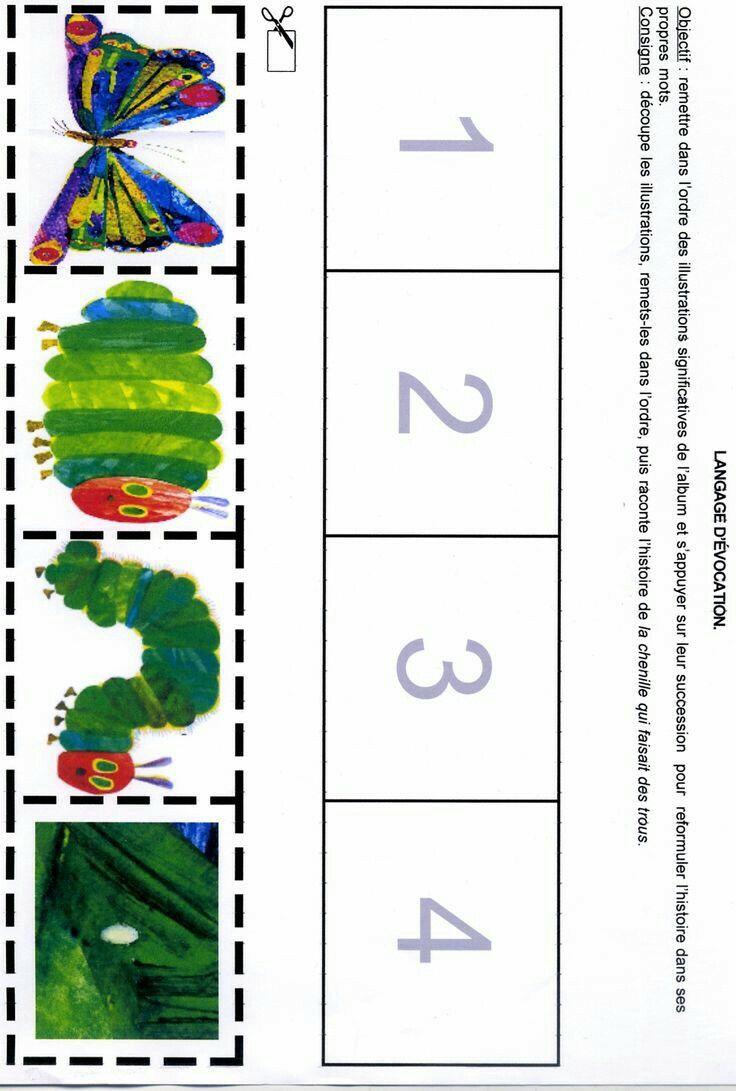 Rupsje Nooitgenoeg zet in de juiste volgorde   preschool   Pinterest ...