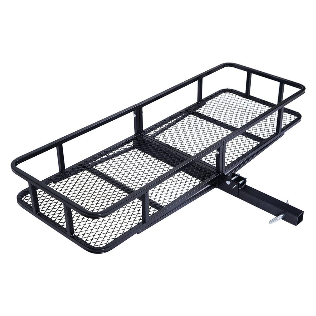Trailer Hitch Luggage Rack Folding Cargo Carrier Luggage Rack Hauler Truck Or Car Hitch 2
