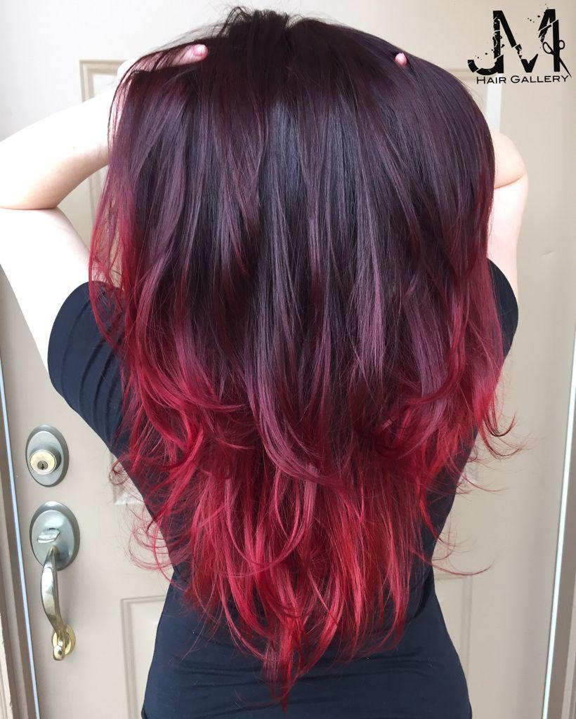 Hair Color Red Hair Purple Hair Ombre Hair Styles Red Ombre Hair Purple Ombre Hair