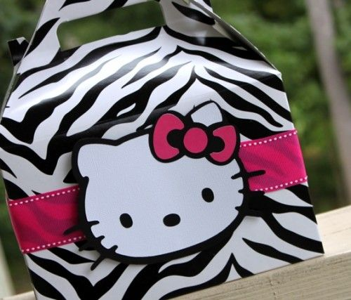 Hello Kitty Zebra Birthday Party Set of 12 Hello Kitty Hot Pink