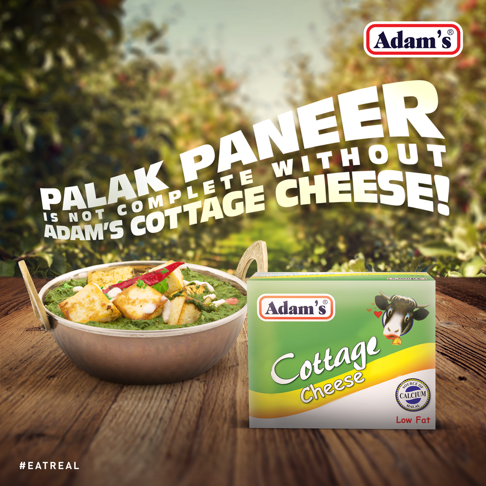 palak paneer is incomplete without adams cottage cheese try it