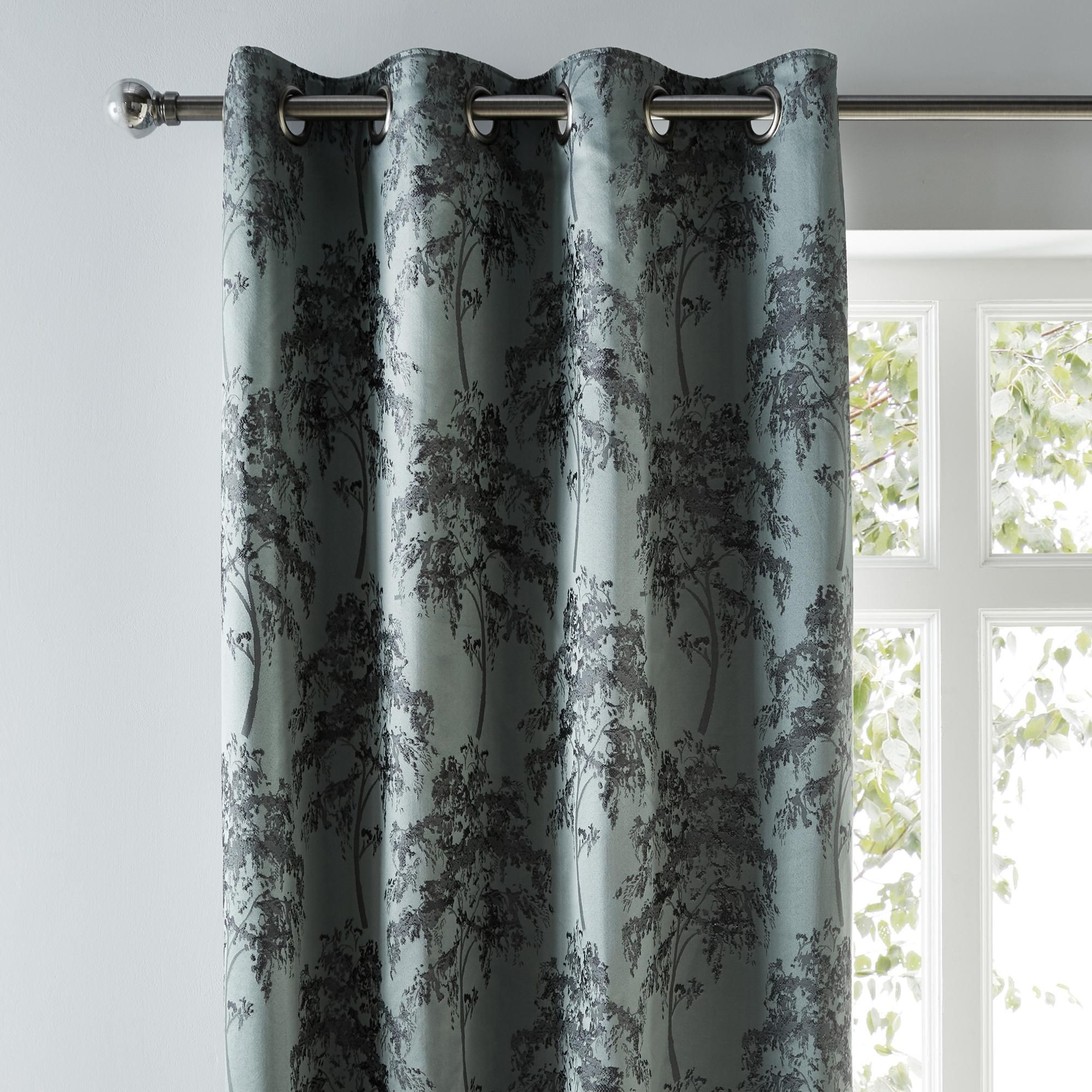 Lux Tree Woven Eyelet Curtains In 2020 Curtains Tree Patterns