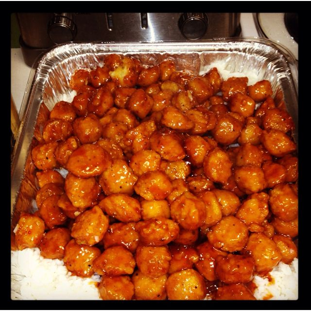 sweet and sour chicken bag of popcorn chicken 1 bottle