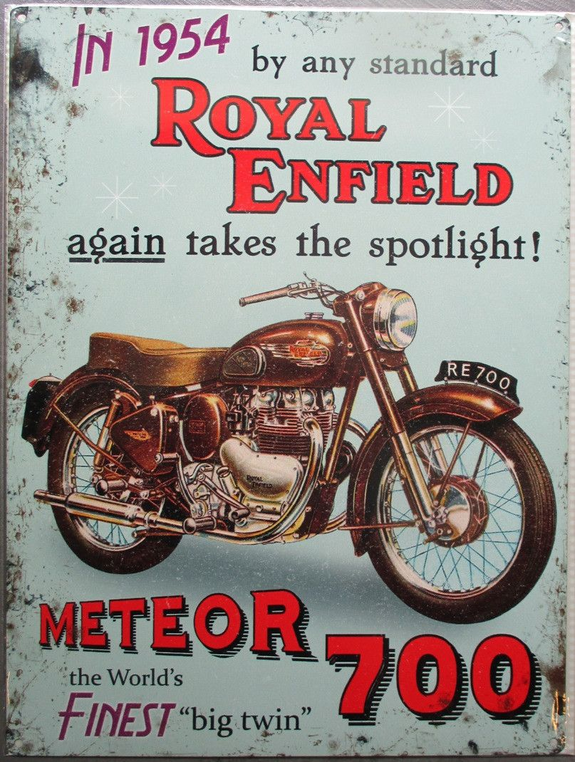Photo of this product is back in stock at www.deco-us.com royal enfield plate …