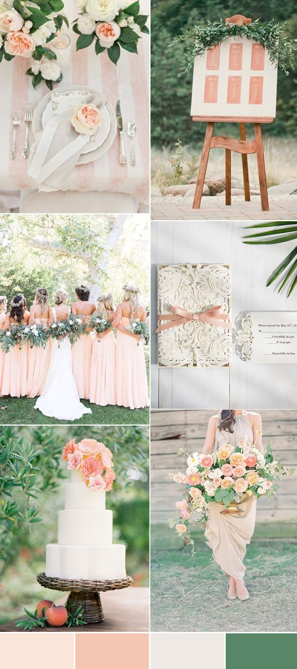 The Top 8 Peach Wedding Colors Combinations Trends for 2017 | Green ...