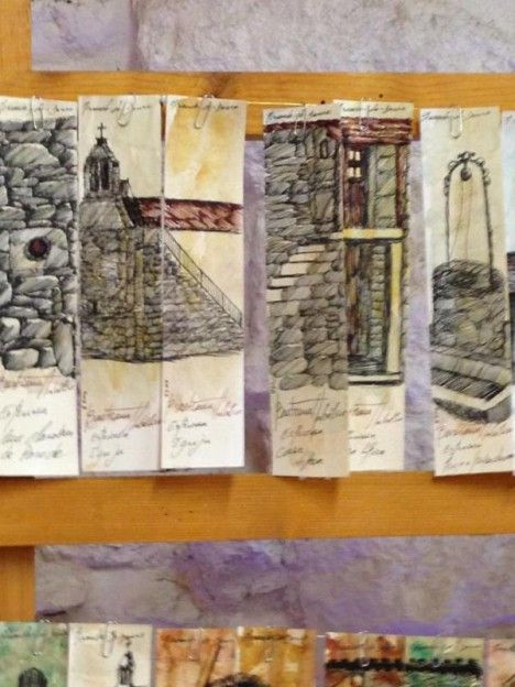 """Ilustração e #pintura de marcadores de livros, #bookmarks, #segnalibri no #caseiropt por """"Bastiana Angélico"""" em Viseu."""