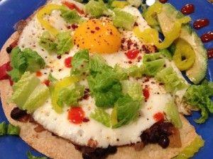 huevos done 422x317 300x225 Healthy Huevos Rancheros