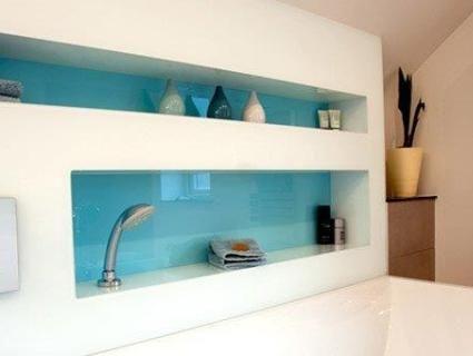 kitchen glass splashback colour idea