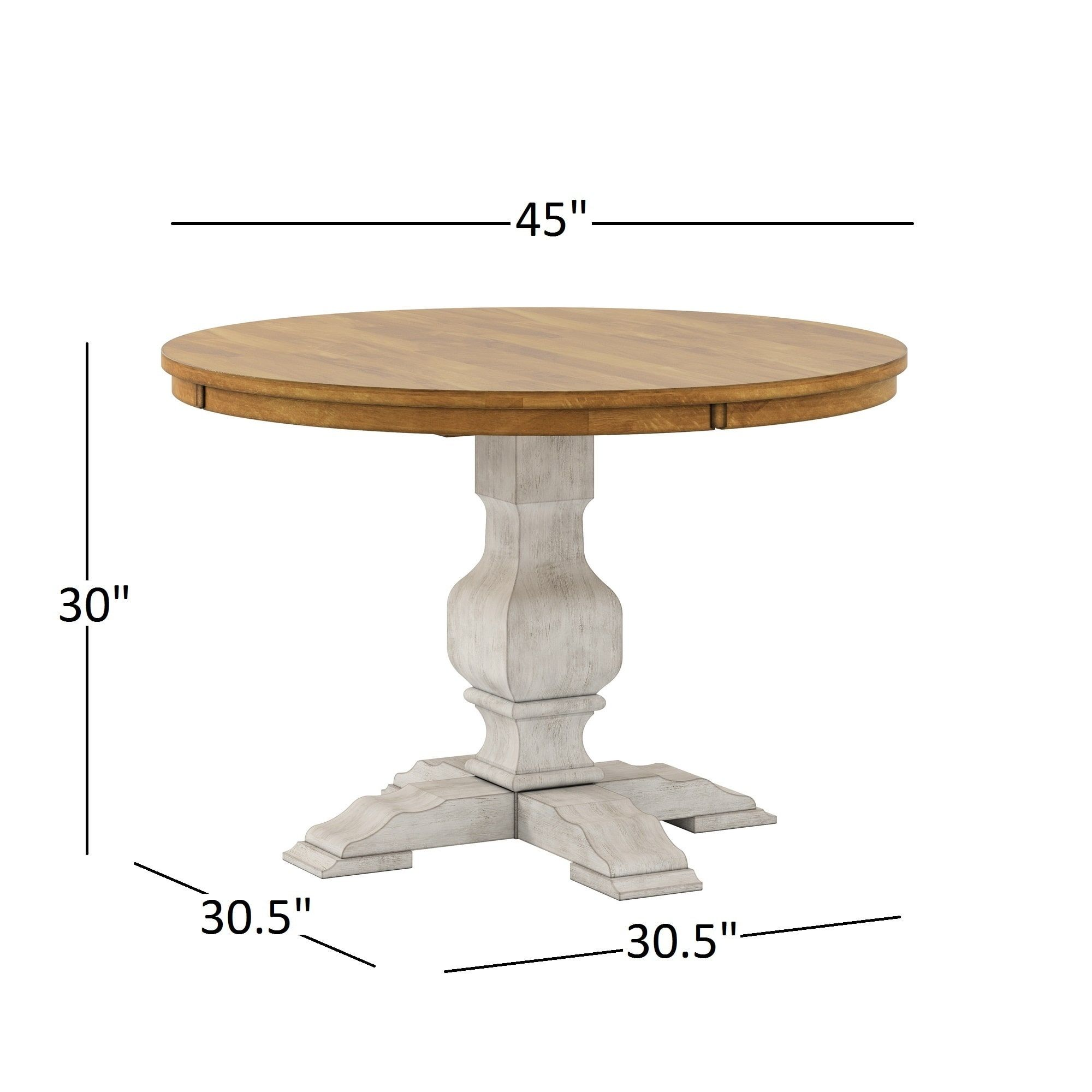 Eleanor Two-tone Round Solid Wood Top Dining Table by iNSPIRE Q Classic |  Overstock