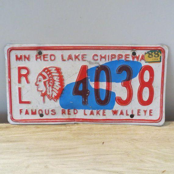 Vintage 1988 Minnesota License Plate by oZdOinGItagaiN on Etsy, $8.00
