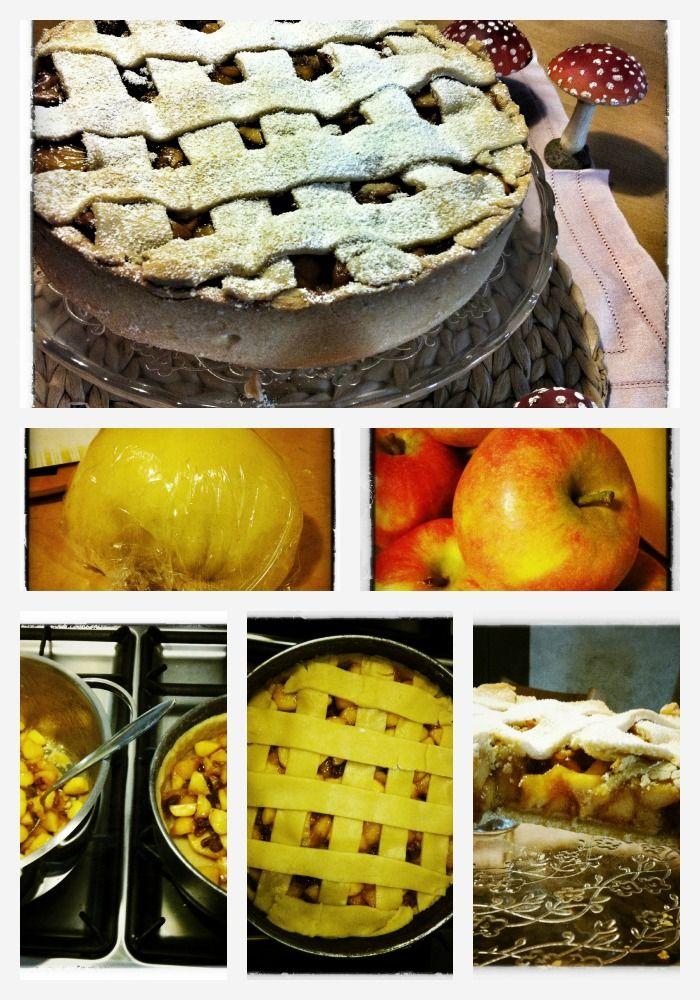 Apfel Marzipan Kuchen Mit Gitter Murbeteig Aus 75g Puderzucker 400g