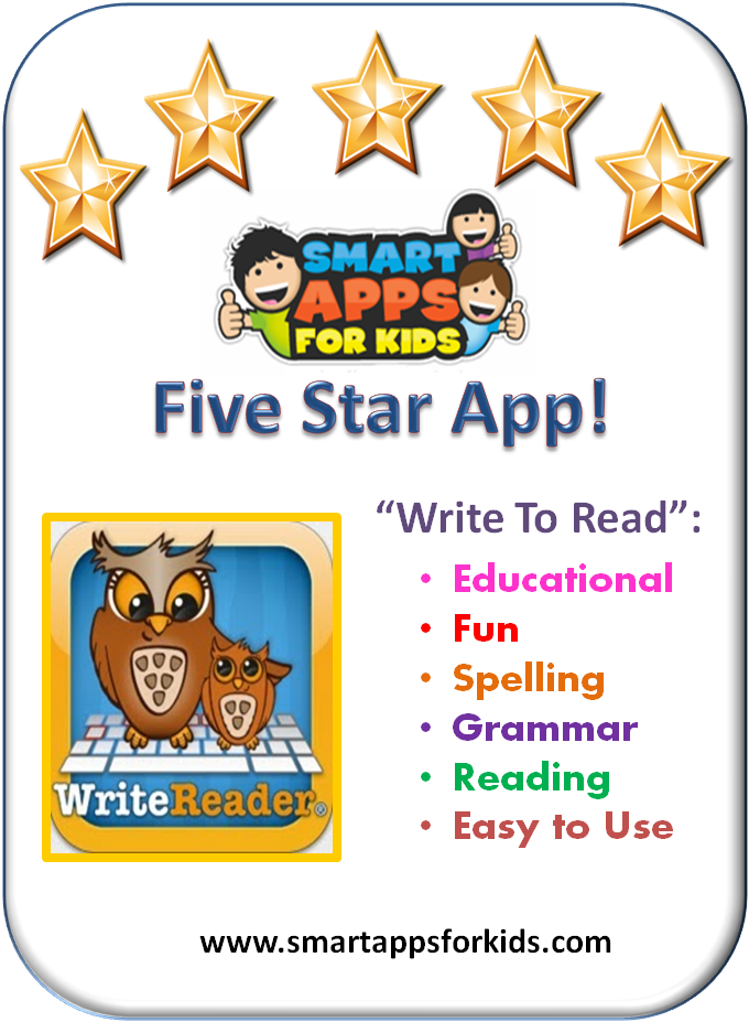 Review from Smart Apps For Special Needs Write to Read is
