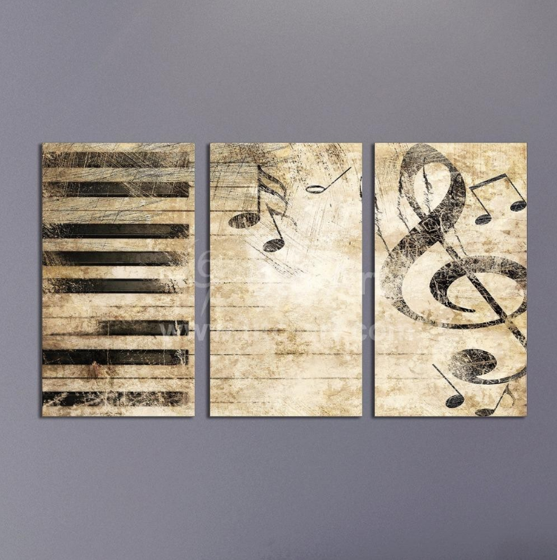 2018 Triptych Custom Multiple Panel Canvas Painting Piano Music Wall Art Music Wall Art Etsy Wall Art Canvas Art Wall Decor