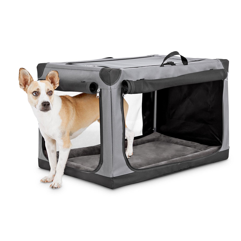 Animaze Portable Canvas Dark Grey Dog Crate 30 Grey Dog Dog Crate Dog Crate Sizes