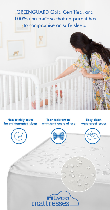 100 Non Toxic Crib Mattresses With Waterproof Crinkly
