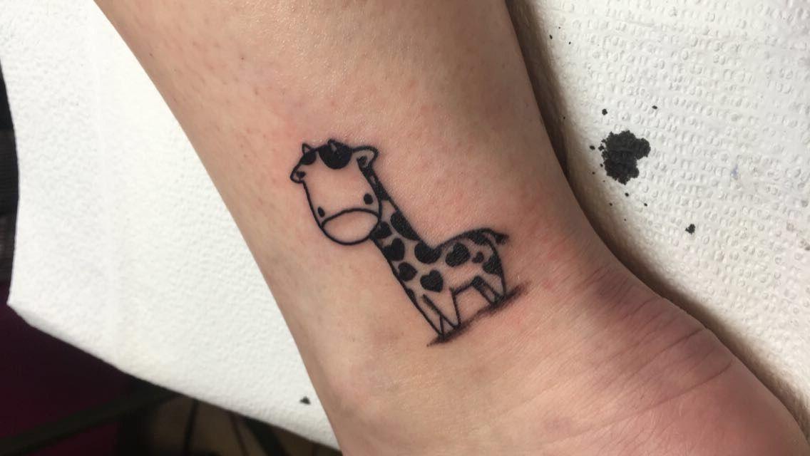 First Tattoo Painless Giraffe Little Small Giraffe Tattoo