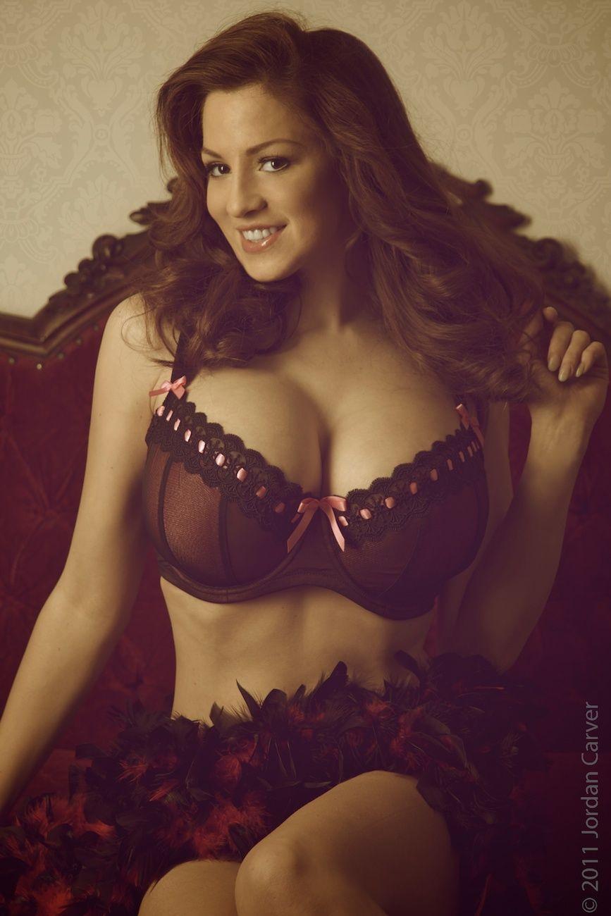 Hot busty lesbian brunette