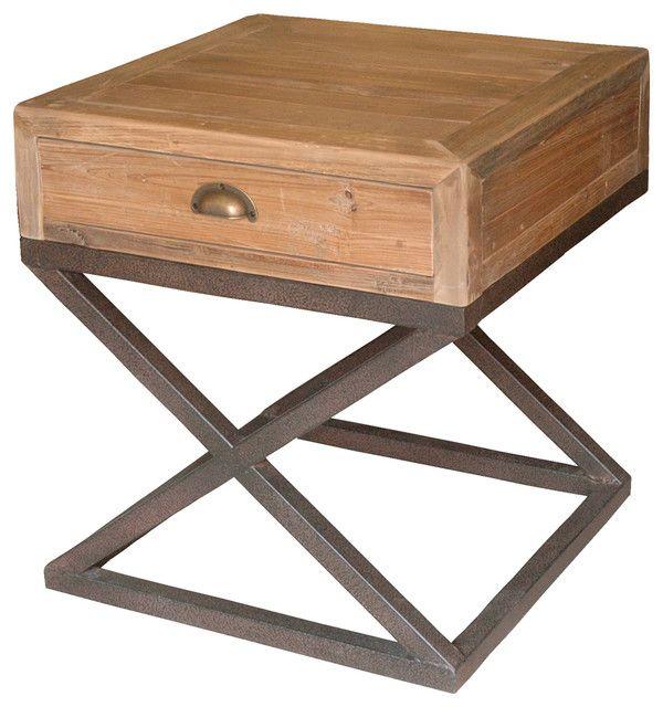 Marvelous Black Metal Nightstands Wood And Metal Nightstand Table