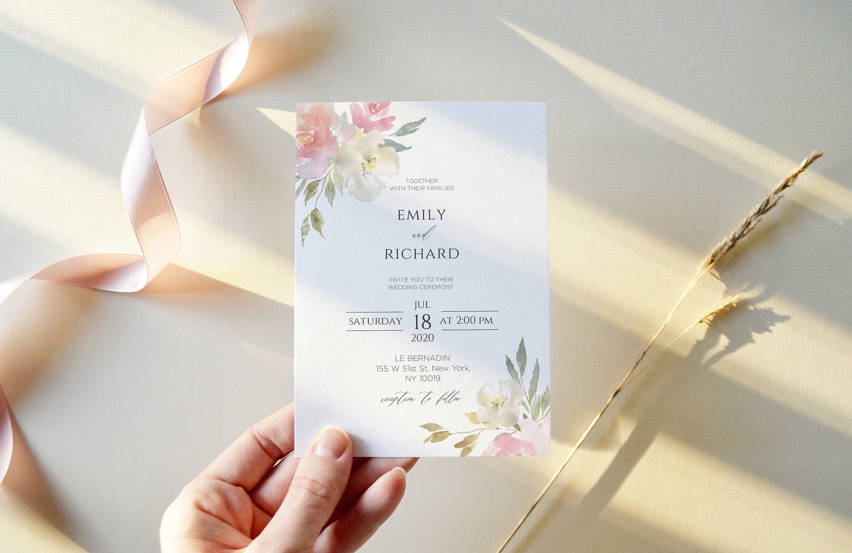 Wedding Invitation Template Printable Wedding Invitation Suite