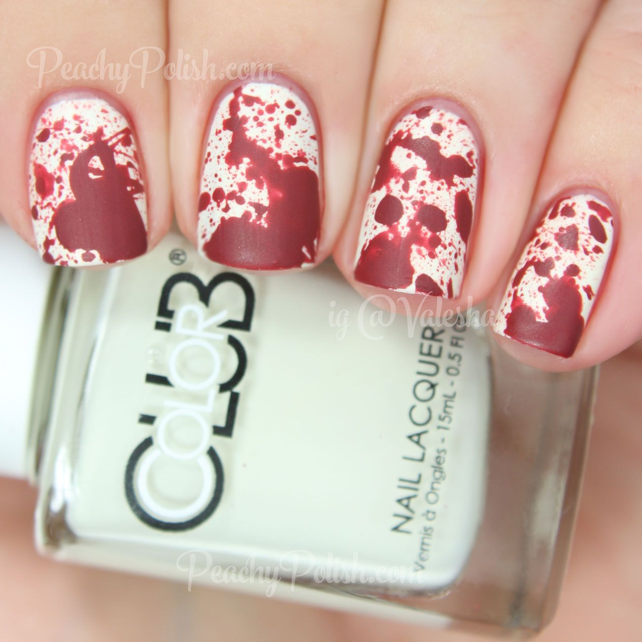 Blood splatter nails peachy polish amazing nail art and nail blood splatter nails peachy polish prinsesfo Choice Image