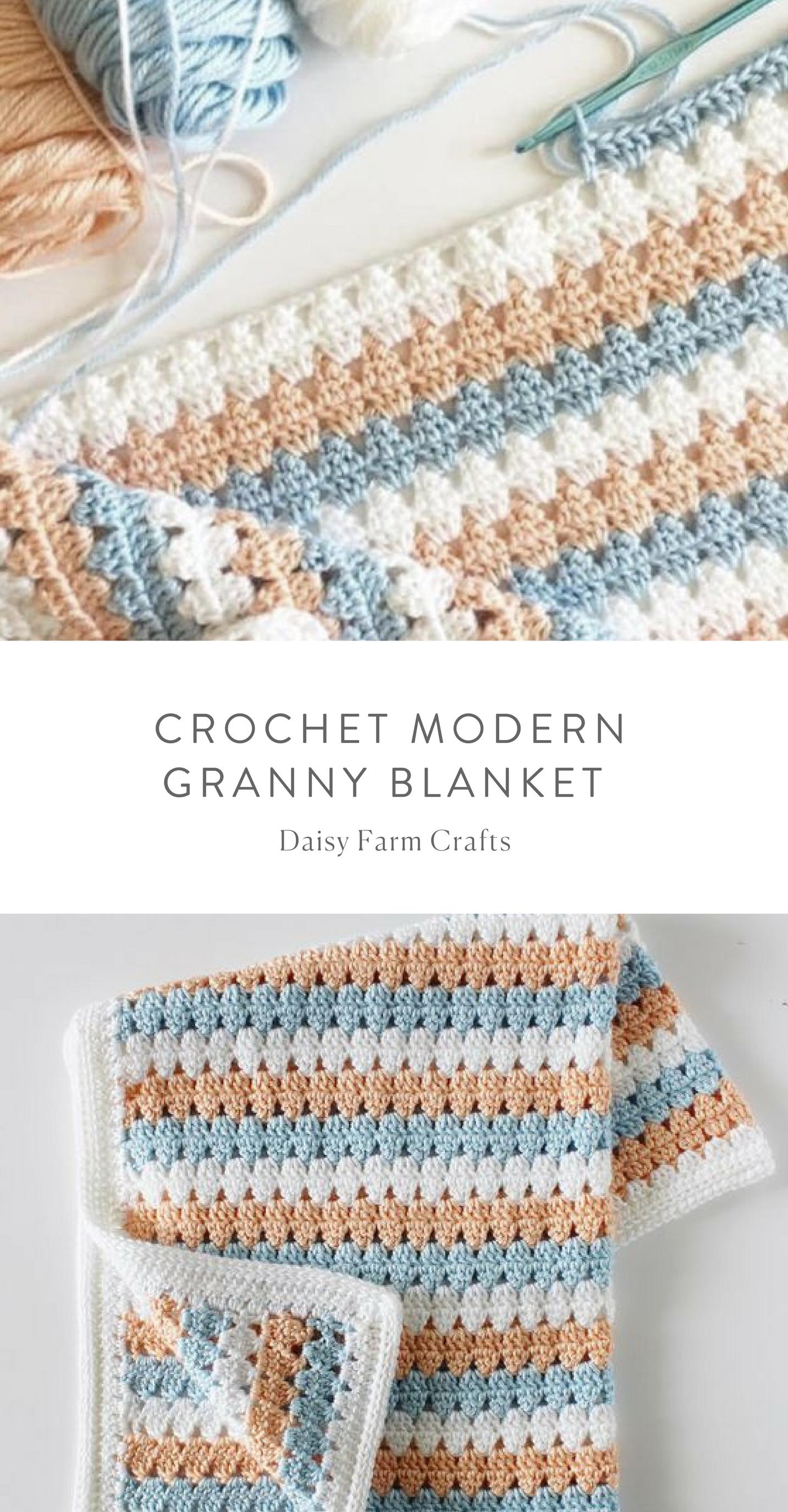 Free Pattern - Crochet Modern Granny Blanket | Afghan | Pinterest ...