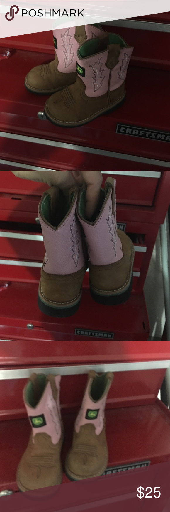 toddler cowboy boots d pink and deere