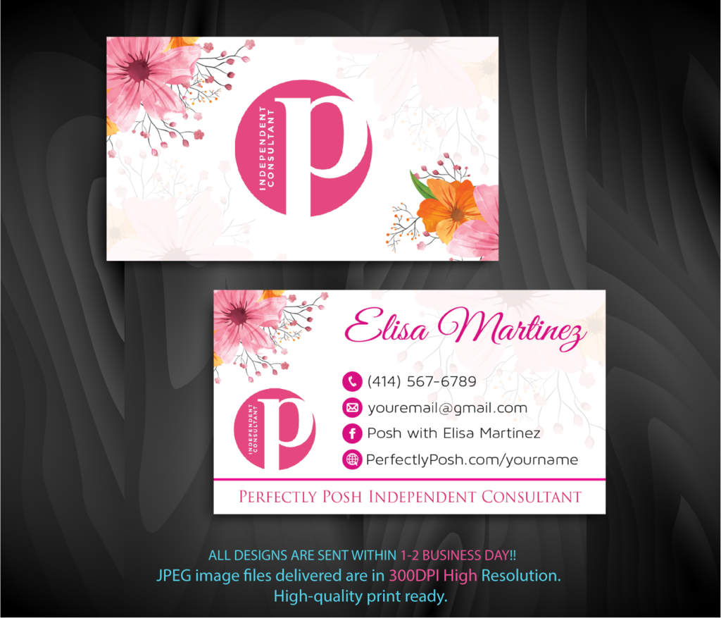 Perfectly Posh Business Cards Personalized Perfectly Posh Consultant Ps03 Perfectly Posh Perfectly Posh Consultant Perfectly Posh Business