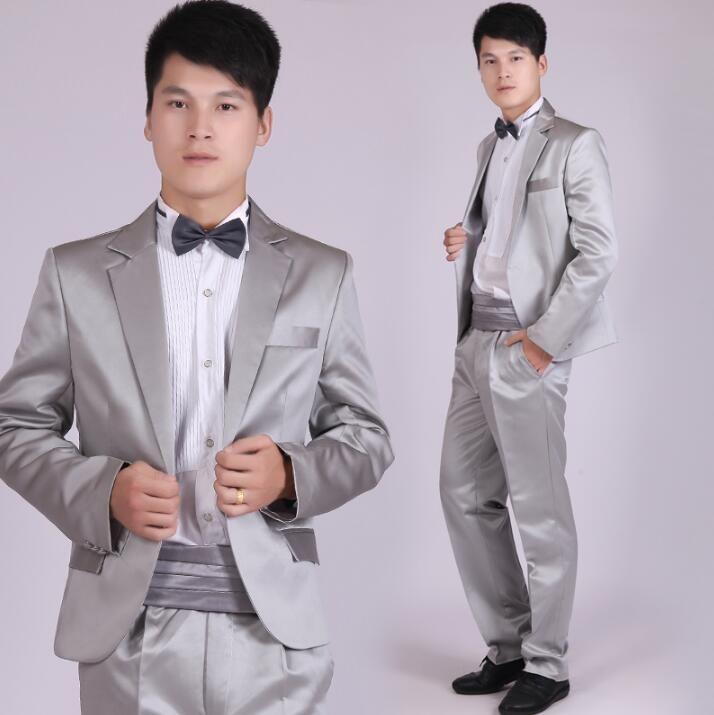 Click To Buy Grey Blazer Men Formal Dress Latest Coat Pant