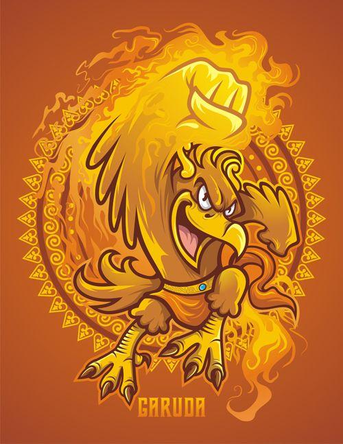 Garuda Vector Art : garuda, vector, GARUDA, Rizkito,, Behance, Illustration, Artwork,, Vector, Character, Design
