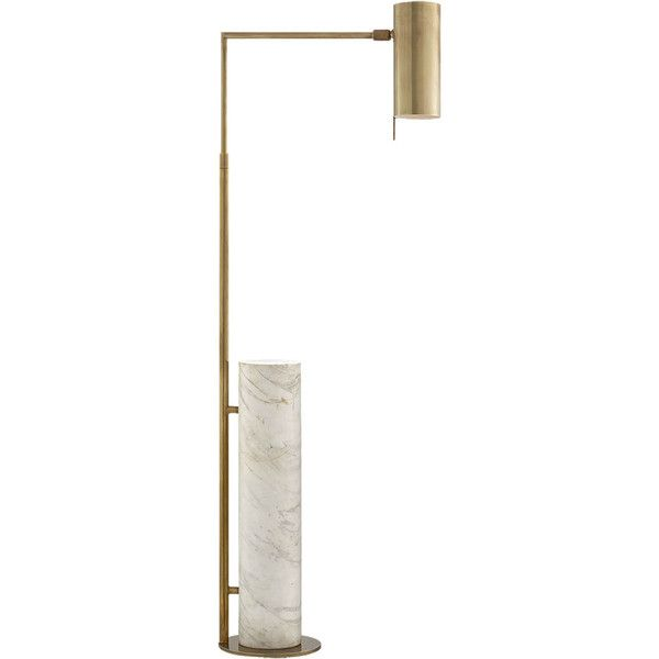 Kelly Wearstler Alma Floor Lamp - Brass W/ White Marble (10260 MAD ...