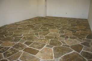 Paper Mache Magic: Making a stone floor out of paper ...