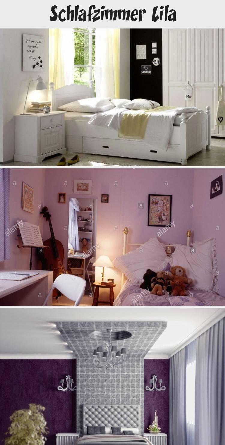 Wandtattoo Teenager-Mädchen elegantes Schlafzimmer schwarz lila ...