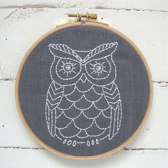 Related Image Fibrous Owlous Pinterest Owl Embroidery Diy