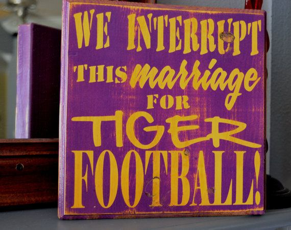 Man Cave Football Signs : We interrupt this marriage to bring you football custom wood sign