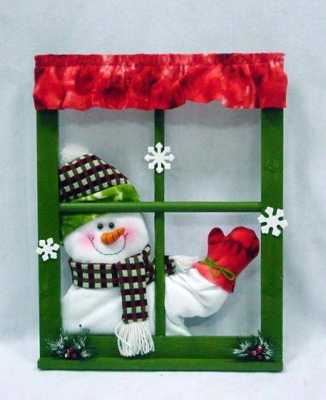 image of thanksgiving door decorations | ... decorations waving hand  singing snowman window frame