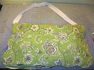 Laptop bag from a pillow case