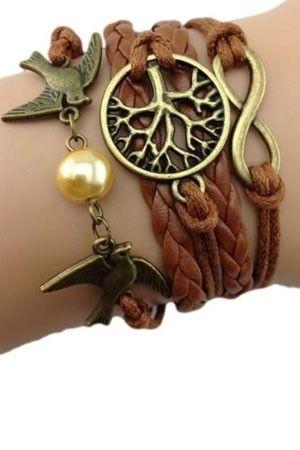 Bracelet tressé - Arbre et Perle