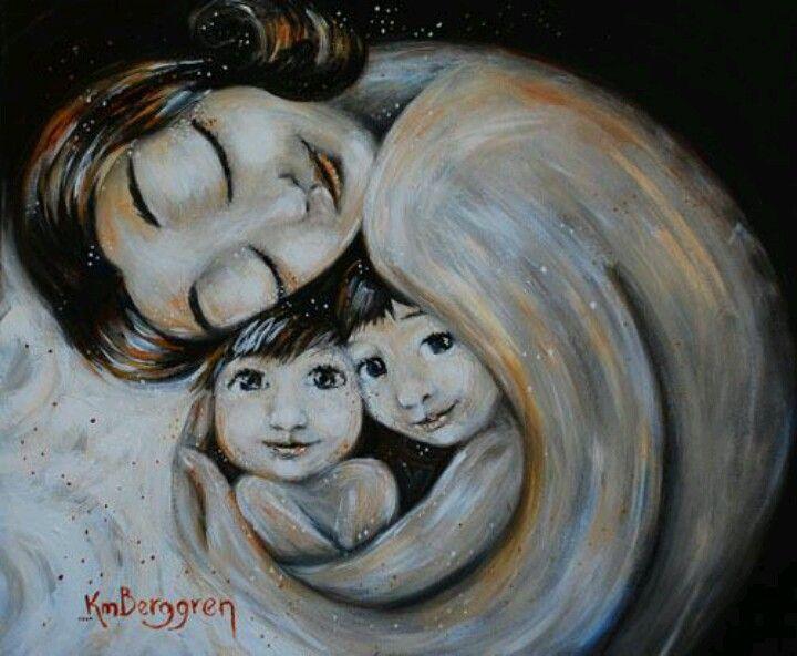 Nunca subestimes el poder de una madre. | Kmberggren, Producción artística,  Pinturas