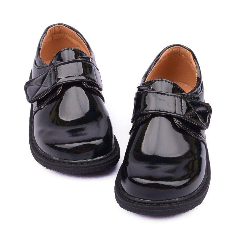 BOYS Black Leather Shoes Children Varnish Leather Shoes Primary School STUDENTS School Uniform Sho