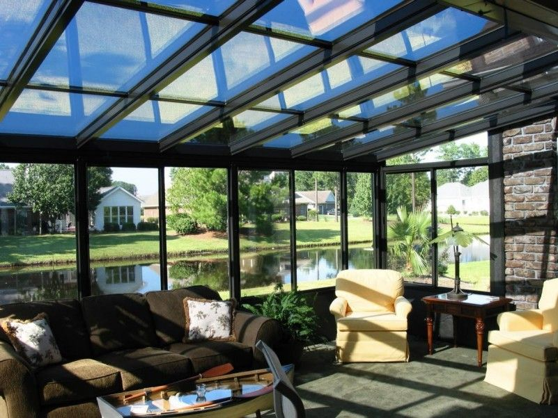 Lowes Awnings Sunroom Deck; Glass Roof Top; Four Season As Fully Heated