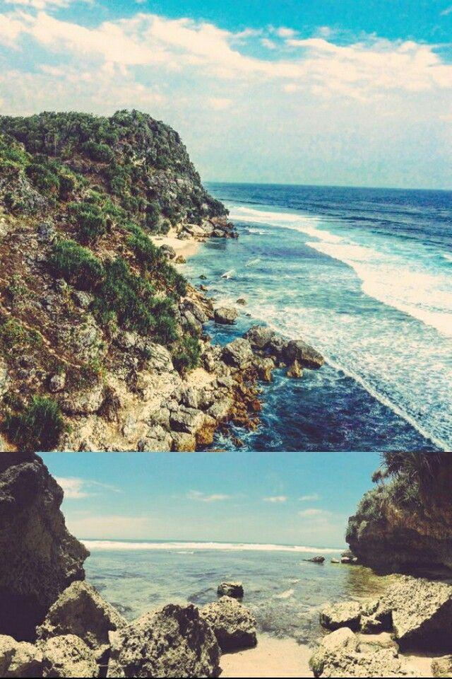 Keindahan Pemandangan Pantai Sepanjang Pok Tunggal Di Gunung Kidul Yogyakarta Pic Fidhzariyan Pemandangan Pantai Yogyakarta