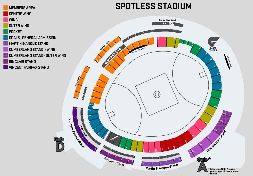 Scg Seating Plan Rows Di 2020