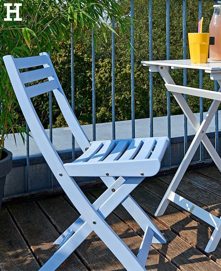 Garten balkon  Farbklecks für den Balkon. #sommer #balkon #garten #möbel #stuhl ...
