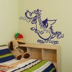 Nice WA Wandaufkleber DRACHE Wandtattoo Kinderzimmer