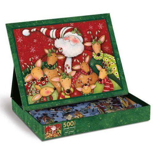 Christmas Jigsaw Puzzle Deer Santa Friends 500-Piece Lang 5037113