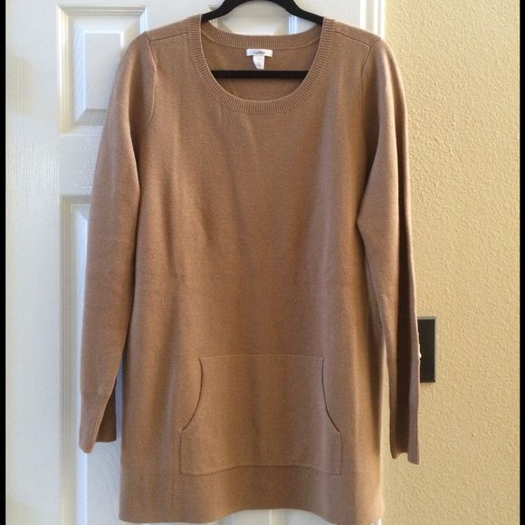 New. Caslon/Nordstroms thick tunic sweater large New. Camel color ...
